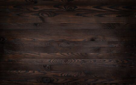 Wooden background, rustic brown planks texture, old wood wall backdrop. Shabby weathered timber. Eco nature material floor. Vintage table, desk surface