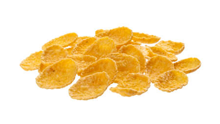 Sweet corn flakes isolated on white background with clipping path
