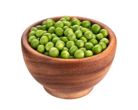 Fresh green peas isolated on white background Stok Fotoğraf