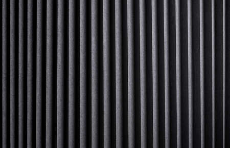 Black striped texture, ribbed metal background