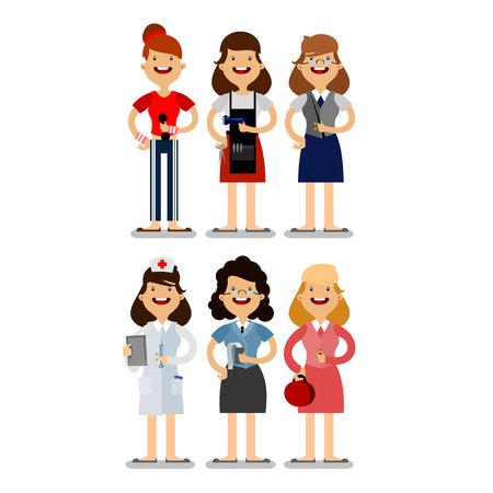 diferentes profesiones: ilustraci�n de diferentes profesiones Vectores