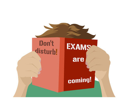 exams: Examination test poster. Dont disturb. Exams are coming.  Examination preparation. Motivation exam banner.