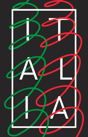 italia: Italy. Italia graphic typography design for poster, t-shirt, apparel Illustration