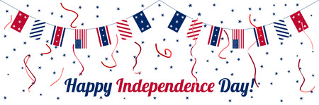holiday invitation: 4th of July. Independence day celebration banner. National holiday. Poster, card or invitation design. Illustration