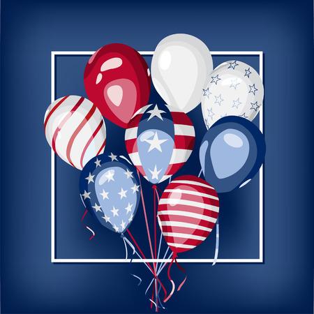 national holiday: USA national holiday illustration