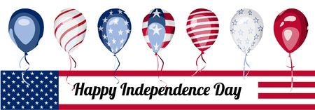 national holiday: America 4th of July national holiday banner Illustration
