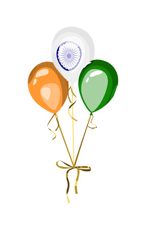 national holiday: Design element for national holiday of India. Vector balloons with indian flag symbol and colors. Independence or republic day of India.