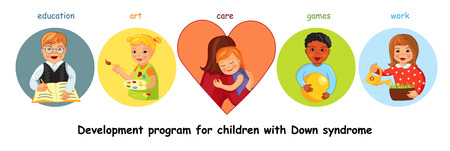 Children with Down syndrome development