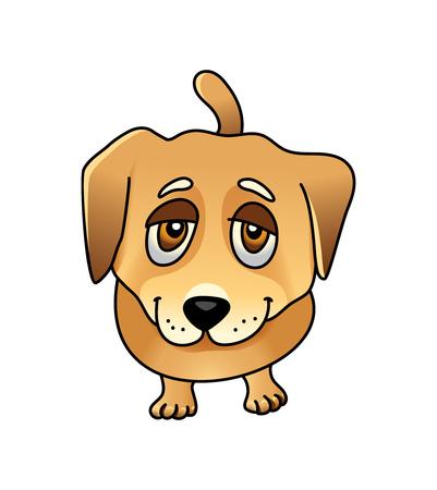 labrador: Cute sad dog.