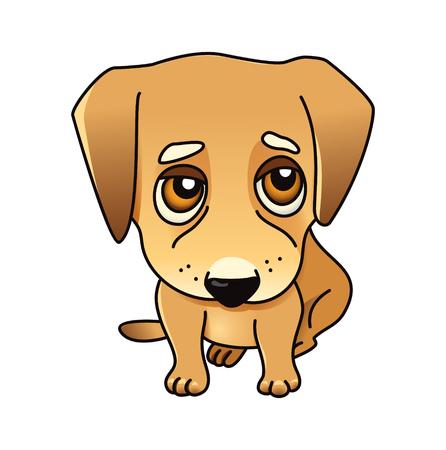cute dog: Cute dog. Illustration