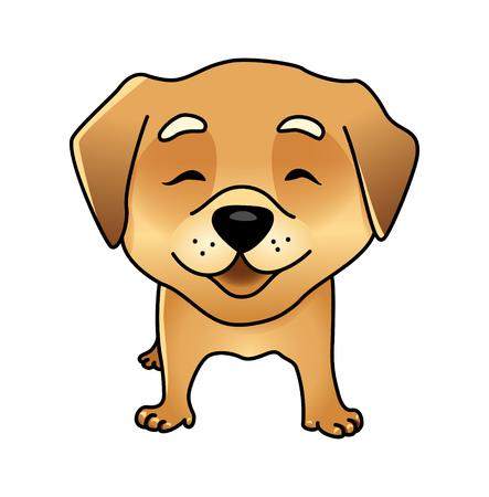 labrador: Cute happy dog. Illustration