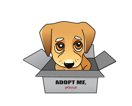 Dog adoption vector concept Illustration