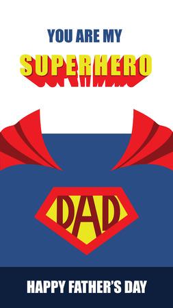 父亲节快乐,超级英雄父亲矢量卡
