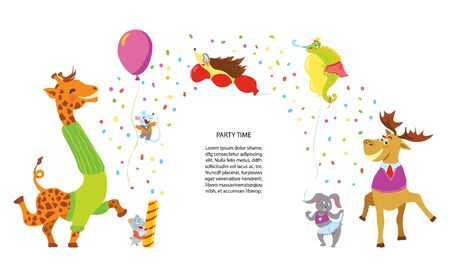 Party animals vector