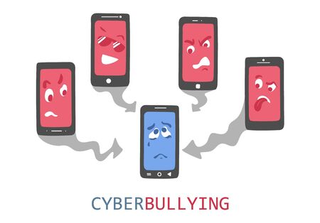 Cyberbullying vector concept