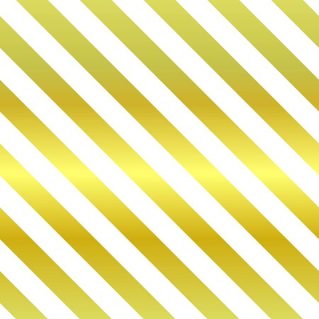 Patrón brillante de vector transparente. Rayas diagonales repetidas doradas y blancas. Ilustración clásica de vacaciones para carteles, fondos, fondos de pantalla, papel de regalo, textil. Cuadro de metal geométrico de tendencia Ilustración de vector