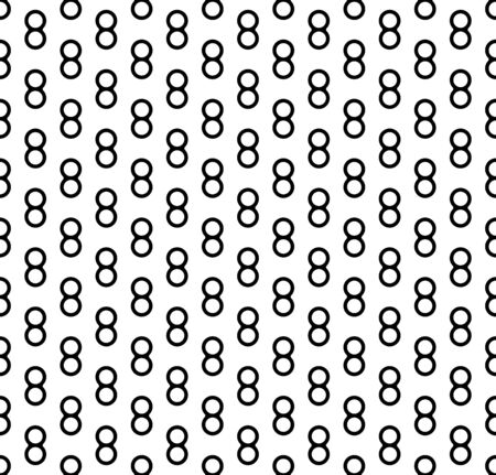 Seamless vector abstract pattern. Outline numbers eight Isolated on a white background. Illustration for the holiday of March 8, Womens Day. Ornament for wrapping paper, cards, textiles, posters