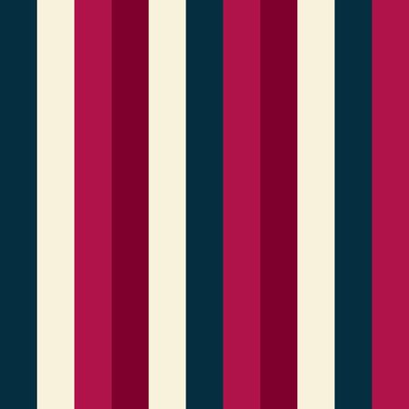 Seamless vector striped pattern. Colored stripes ornament. Vertical Pink, blue, red, gray lines. Stylish contrasting illustration for holiday, wallpaper, wrapping paper, textile, clothes. Trend colors