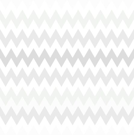 Seamless abstract white zig zig pattern. Neutral geometric gradient ornament. White and gray colors of a modern stylish background for wallpaper, posters, wrapping paper, textile. Vector  illustration Çizim