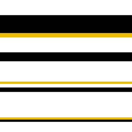 Minimalistic seamless pattern. Black and gold horizontal stripes isolated on white background. Vector illustration for wallpaper, textile, wrapping paper, holiday decoration. Strict stylish design Çizim