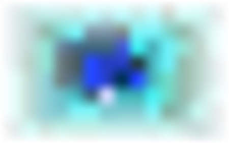 Color abstract blurred background. Heavenly blue, Tidewater Green random stains, spots on white base. Air flowing details. Paint marks, bokeh effect. Copy space banner. Vector cosmic illustration