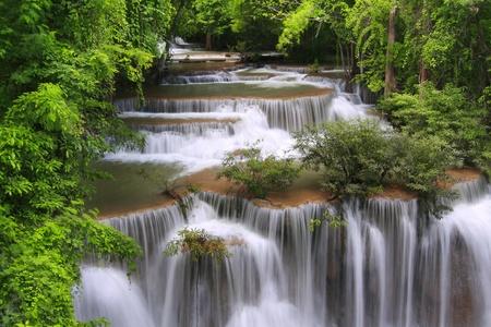 Huay Mae Khamin waterfall, Thailand photo
