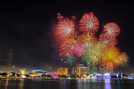 national day: Marina Bay, Singapore, July 23 2011, NDP Rehearsal, National Day