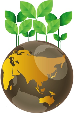 Eco green globe Vector