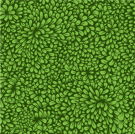 vegetation: Hand-drawn seamless pattern with dense vegetation. Leaves. Can be used for desktop wallpaper or frame for a poster,for pattern fills,  surface textures, web page backgrounds, textile and more. Illustration