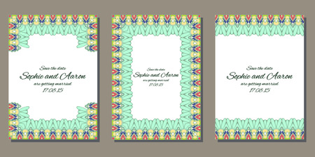 birthday cards: Vector template for wedding or bussines cards. Beautiful floral invitation cards