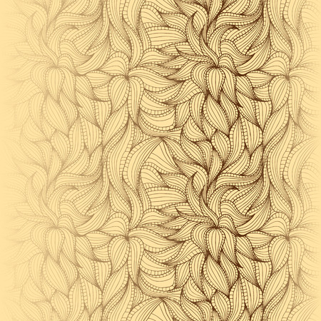 dense: Abstract hand-drawn seamless pattern with dense vegetation. Leaves. Can be used for desktop wallpaper or frame for a poster,for pattern fills, surface textures, web page backgrounds, textile and more.