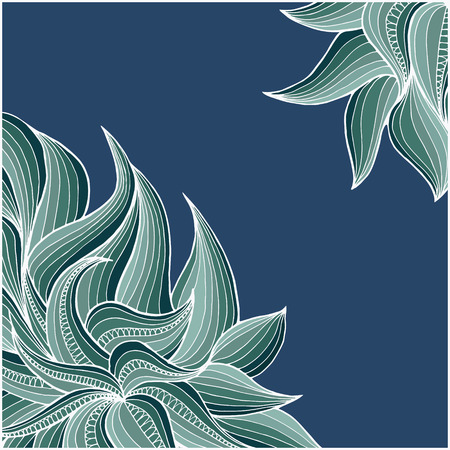 dense: Abstract handdrawn card with dense leaves. Can be used for the greeting card or invitation. Vector illustration