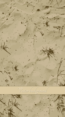 sand background: Sand background. Some grass on the sand. Vector illustration.