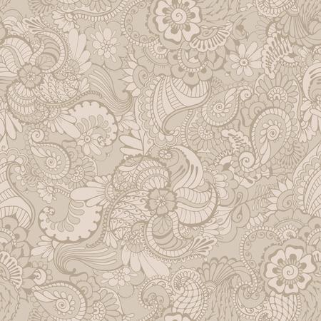 Patrón Con Diseño Ornamental Indio Tradicional. Fondo Floral Con El ...