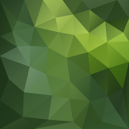 futuristic nature: Vector background with geometric shapes in green colors. Triangle mosaic background. Polygonal design. Illustration