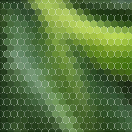 hexahedron: Geometric background of hexahedrons in green colors. Vector illustration