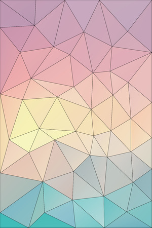 rainbow colors: Vector background with geometric shapes in pastel rainbow colors and black outline. Triangle mosaic background. Polygonal design.