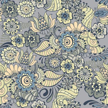 Patroon met traditionele Indiase sierontwerp. Bloemen achtergrond met Indiase ornament. Naadloze patroon voor uw ontwerp achtergronden, patroonvullingen, webpagina achtergrond, oppervlaktestructuren.