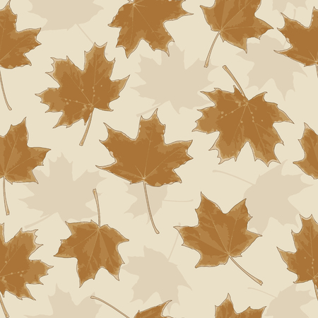herbarium: Seamless pattern with leaves. Herbarium. Vector illustration. Illustration
