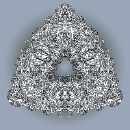 entangled: Floral entangled background in grey and blue colors. Can be used for the invitations for birthday, wedding, summer and spring design. Vector illustration. Illustration