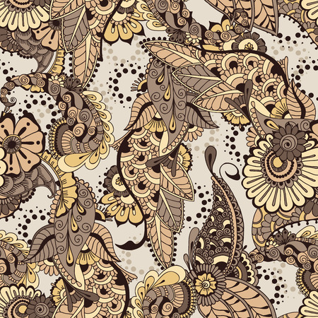 architectural styles: Pattern with floral elements. Floral background. Seamless pattern for your design wallpapers, pattern fills, web page backgrounds, surface textures.