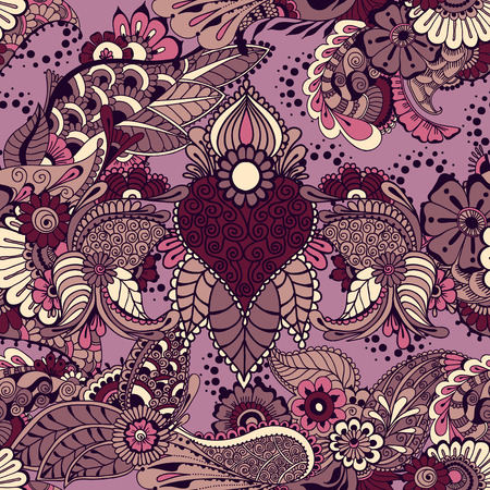 architectural styles: Pattern with traditional indian ornamental design. Floral background with indian ornament. Seamless pattern for your design wallpapers, pattern fills, web page backgrounds, surface textures.