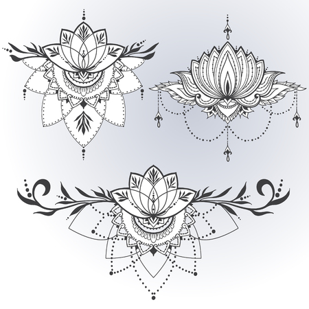 Lotus Flower Tattoo Designs Stock Photos And Images 123rf
