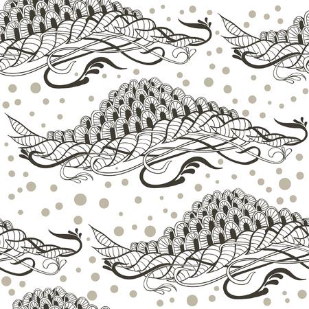 Hand getrokken vector naadloze patroon met doodle elementen.