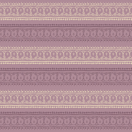 Endless stripes in henna tattoo style. Mehndi element for tattoo design, card backgrounds, print on clothes or else. Seamless pattern with vector stripes.