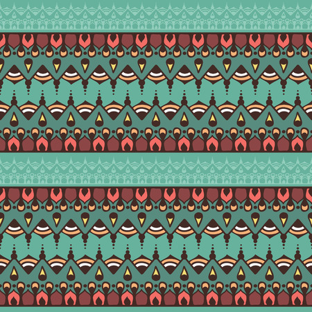 Eindeloze strepen in de stijl van de hennatatoegering. Mehndi-element voor tatoegeringsontwerp, kaartachtergronden, druk op kleren of anders. Naadloos patroon met vectorstrepen. Stock Illustratie