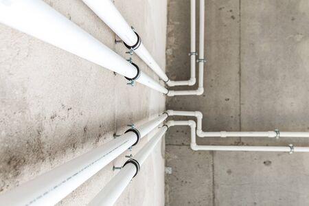 copper pipes in boiler-room Stock fotó