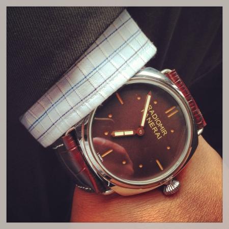 clothing: Watch on businessman