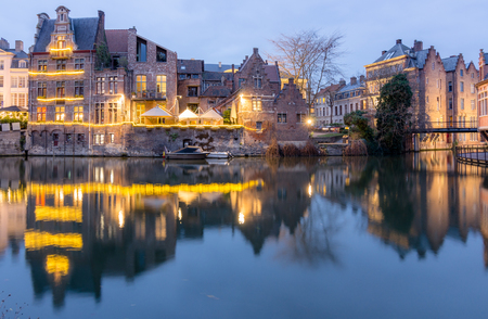Dusk in Ghent