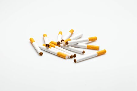 cigarettes isolated in front of a white background